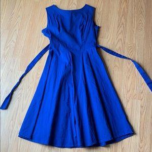 Royal Blue Sleeveless Dress XL